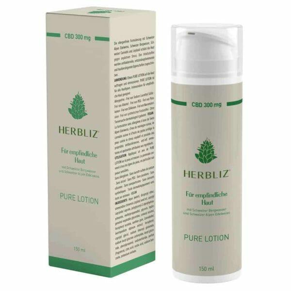 HERBLIZ Pure 300mg CBD Lotion