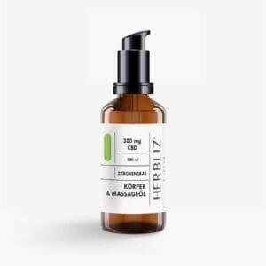 HERBLIZ Zitronengras CBD Massage Oil