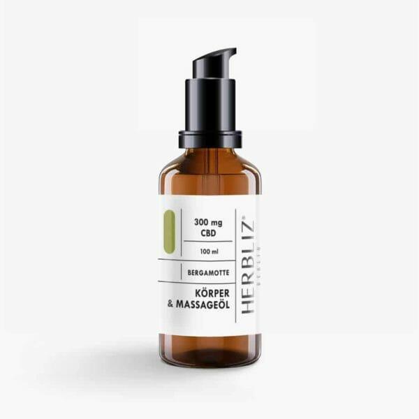 HERBLIZ Bergamotte CBD Massage Oil
