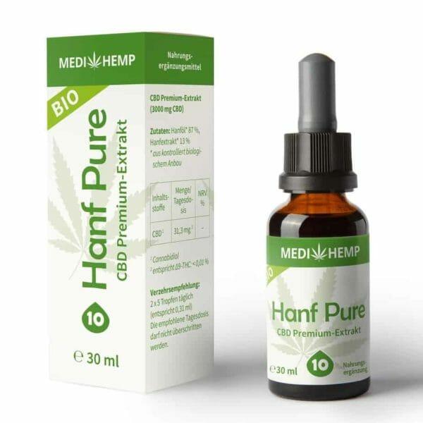 MEDIHEMP Bio Hanf Pure 10%, 30ml