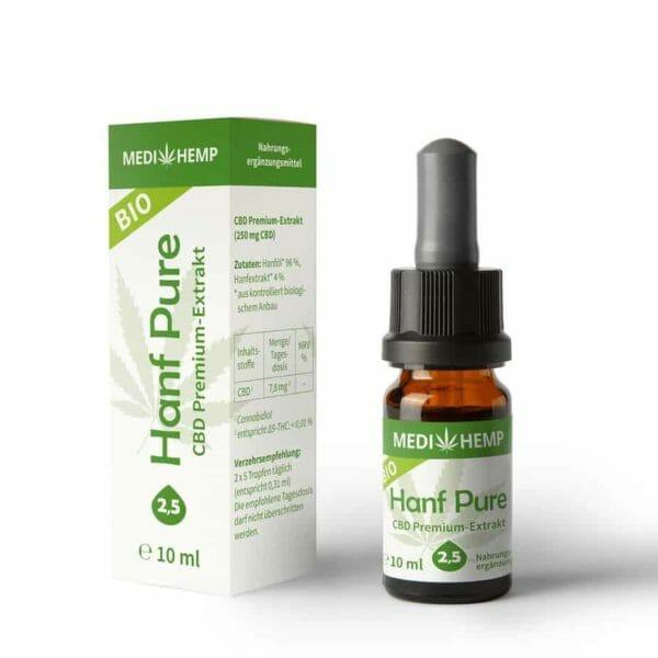 MEDIHEMP Bio Hanf Pure 2,5%